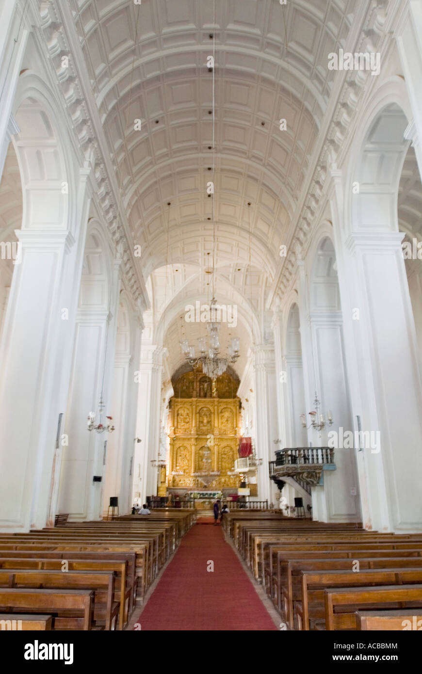 Interiors of a cathedral, Se Cathedral, Old Goa, Goa, India Stock Photo