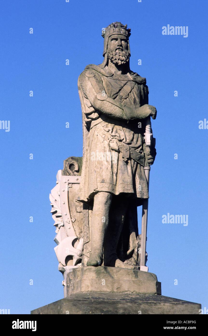 Robert the Bruce Statue, Stirling, Scotland, UK, travel, tourism, Scottish history statues king kings warrior warriors - Stock Image