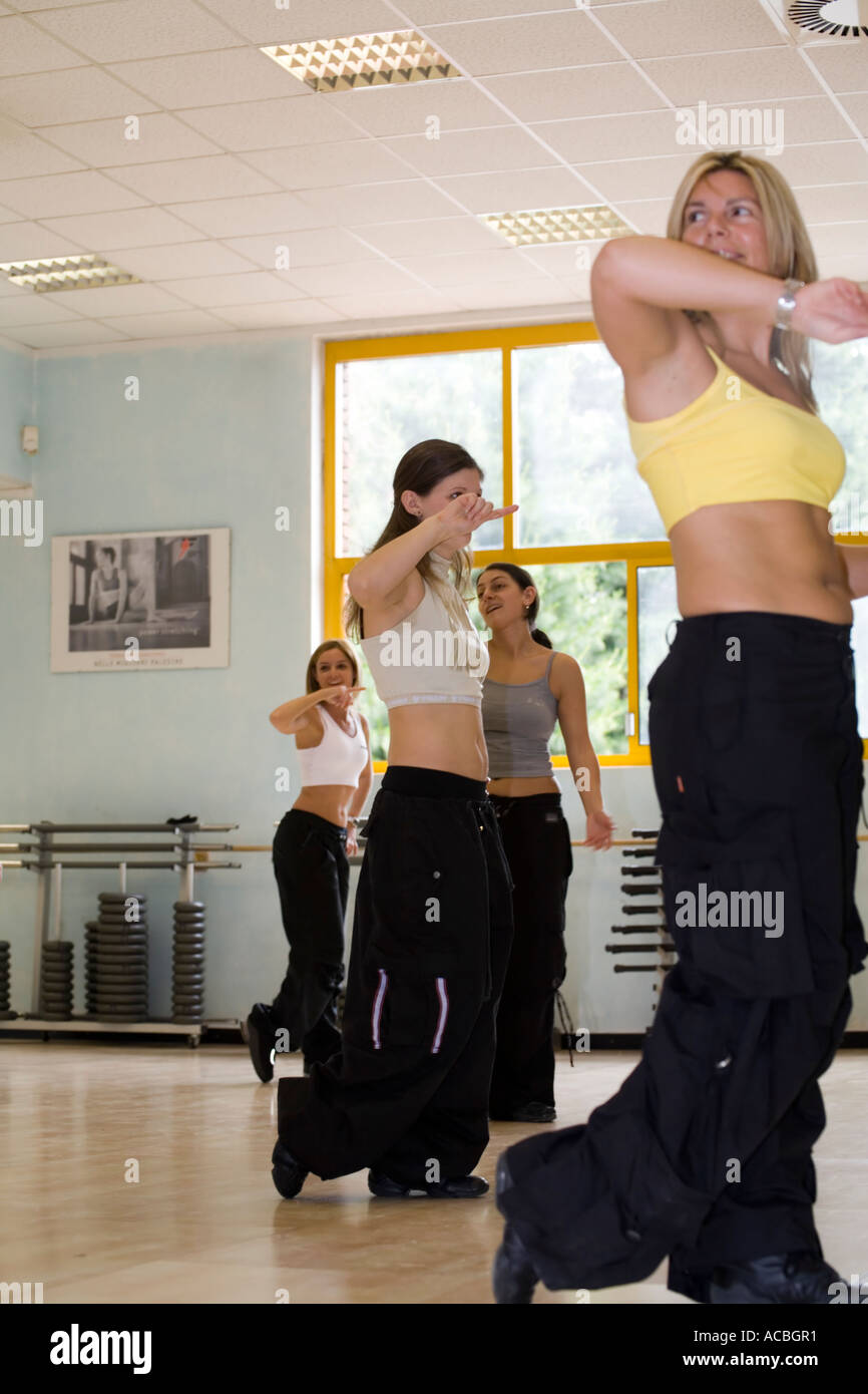 Hip hop dance training Stock Photo