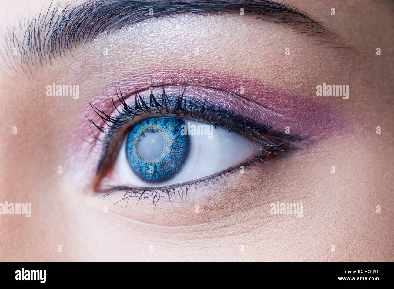 Close-up of a woman's eye - Stock Image