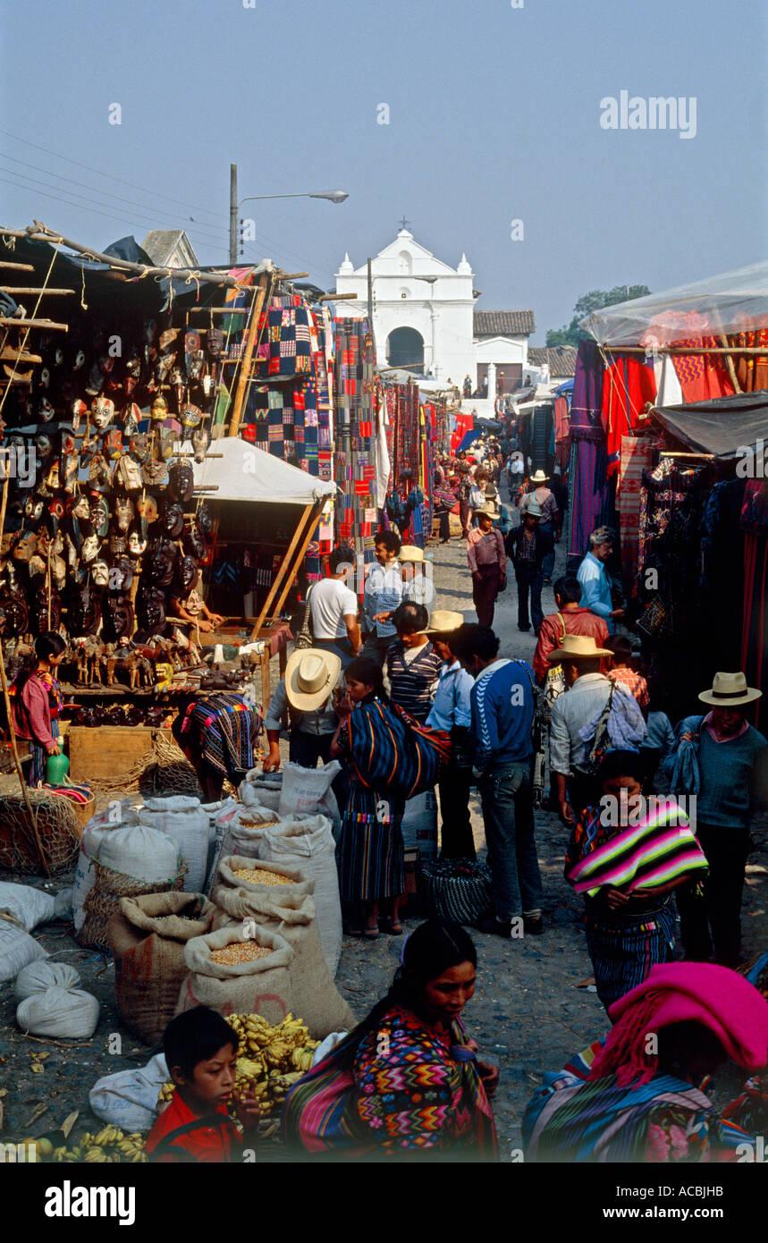 church of santo tomas market town of chichicastenango guatemala - Stock Image