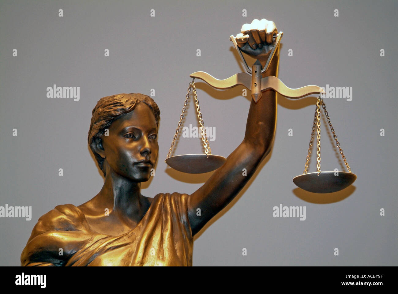Scales of Justice Statue inside of the Supreme Court Building Lansing Michigan - Stock Image