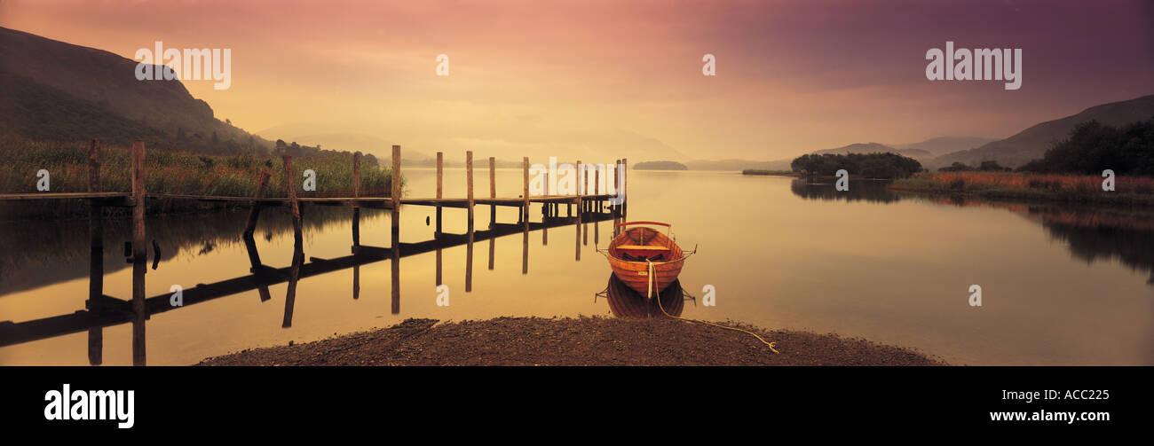 Derwent Lake in the Lake District UK - Stock Image