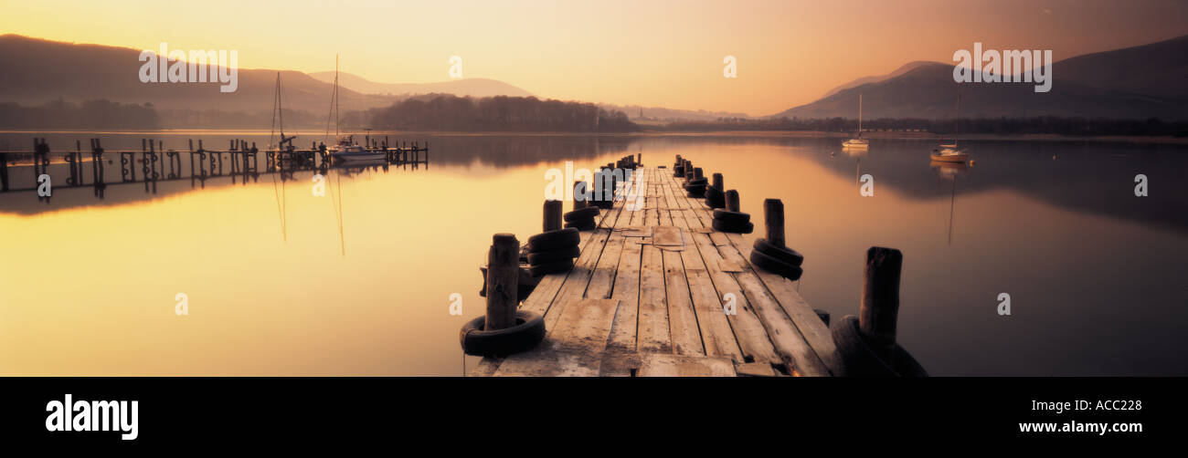 Derwent Water in the Lake District UK - Stock Image
