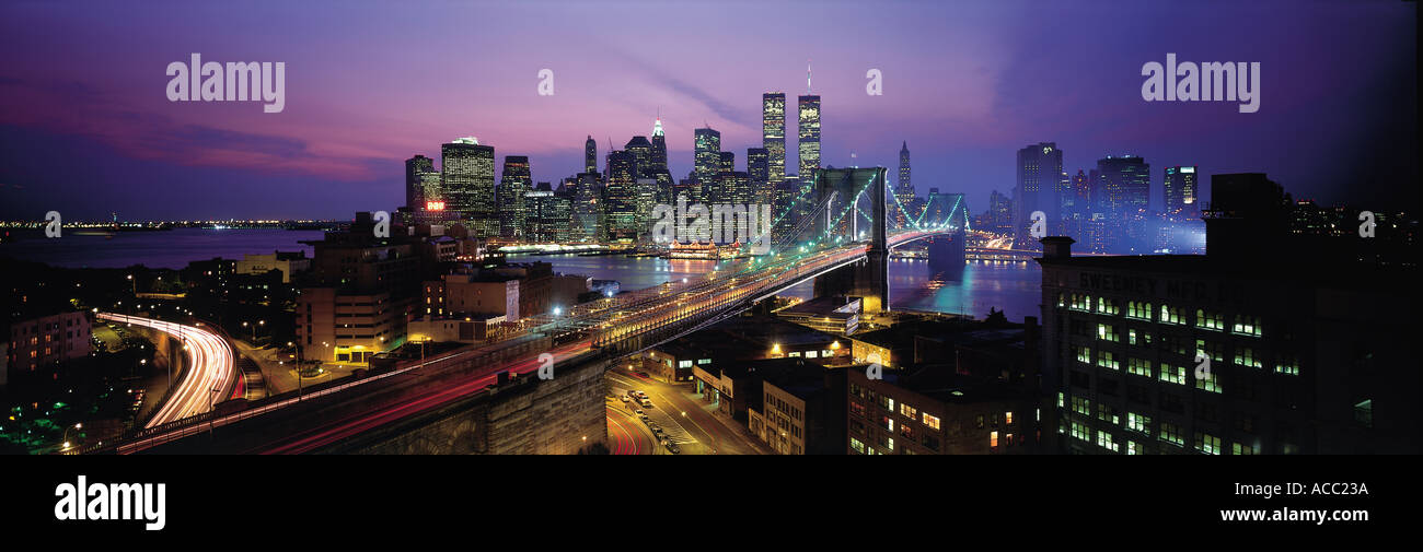 Nightscape of New York USA - Stock Image