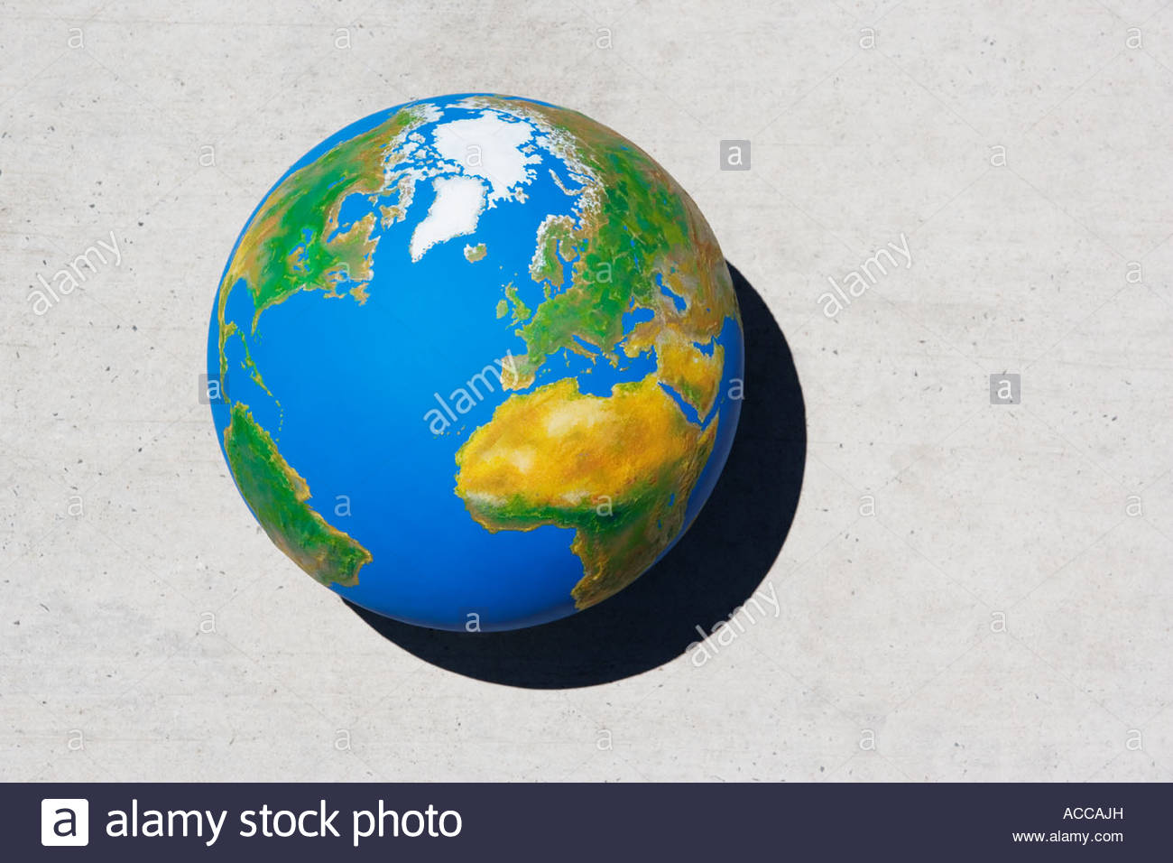Detailed view of globe - Stock Image