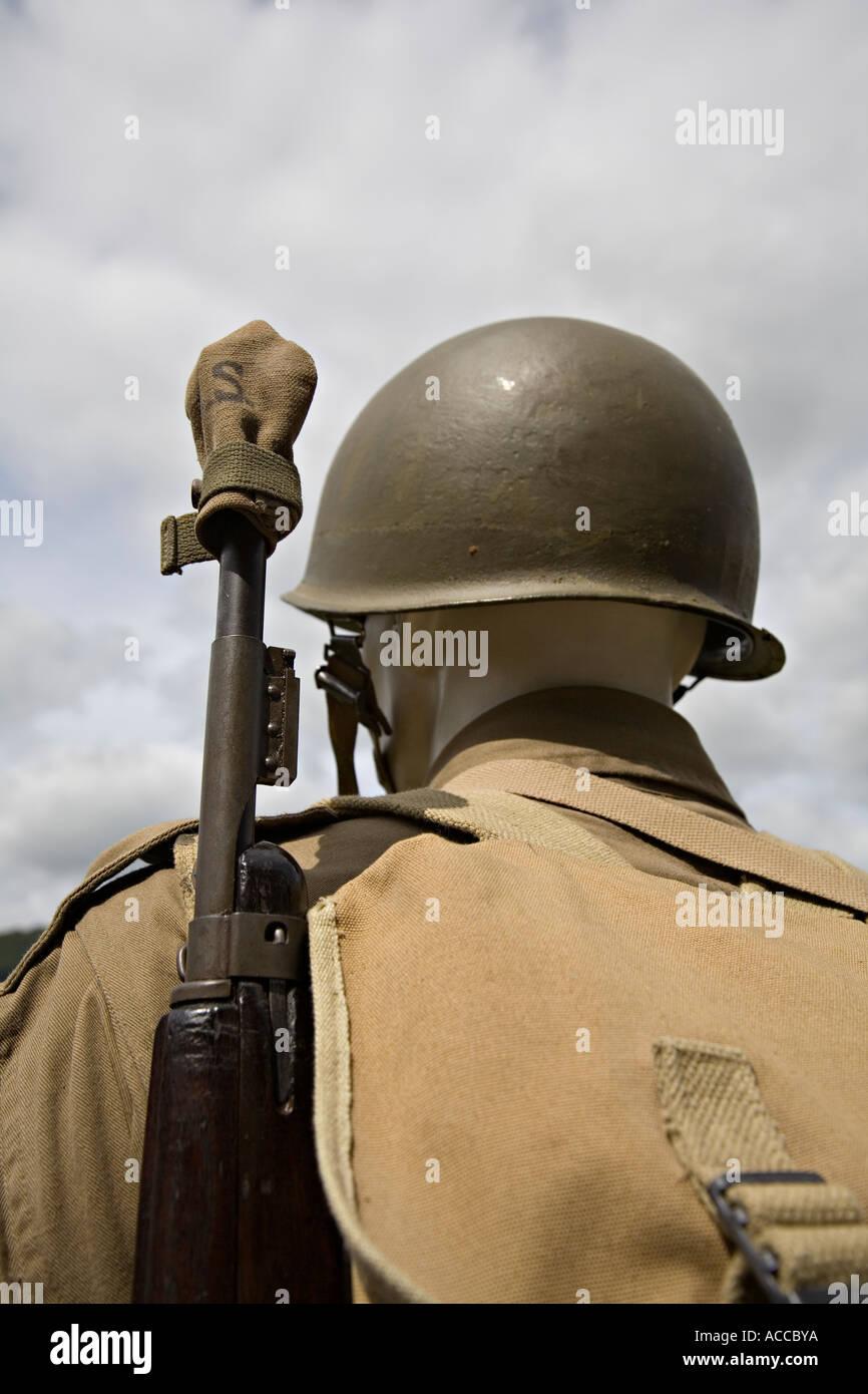 World War 2 carbine rifle - Stock Image