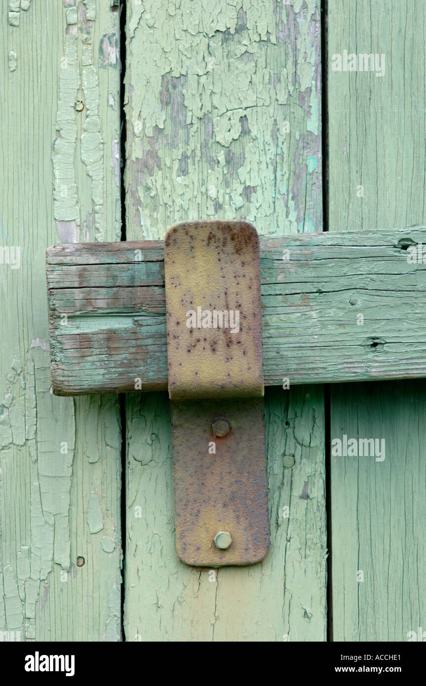 Close Up Image Of Old Barn Door Lock Stock Photo 4280800 Alamy