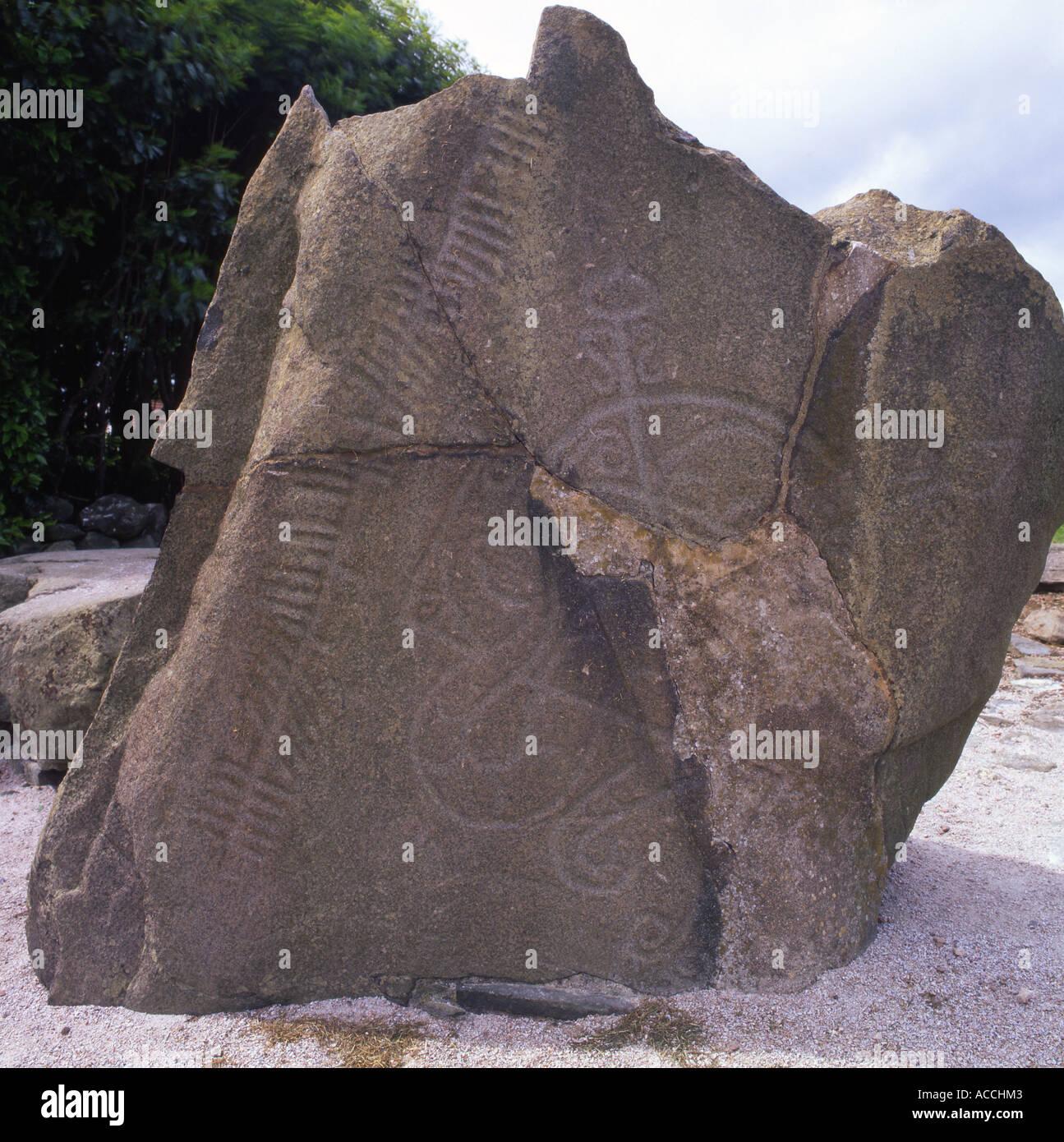 Brandsbutt Pictish Stone, Scotland Stock Photo