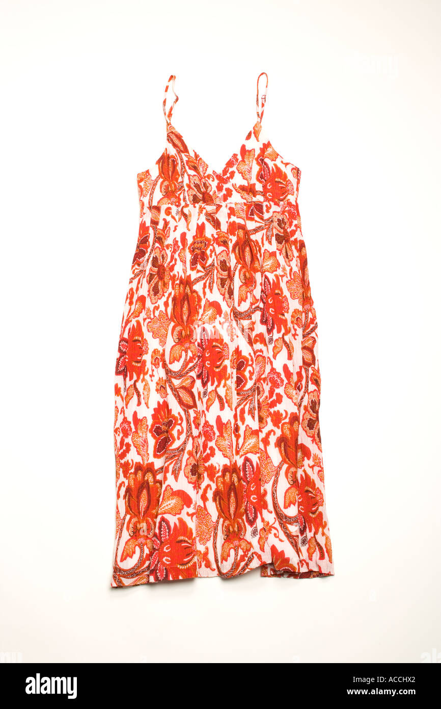 Red summer dress - Stock Image