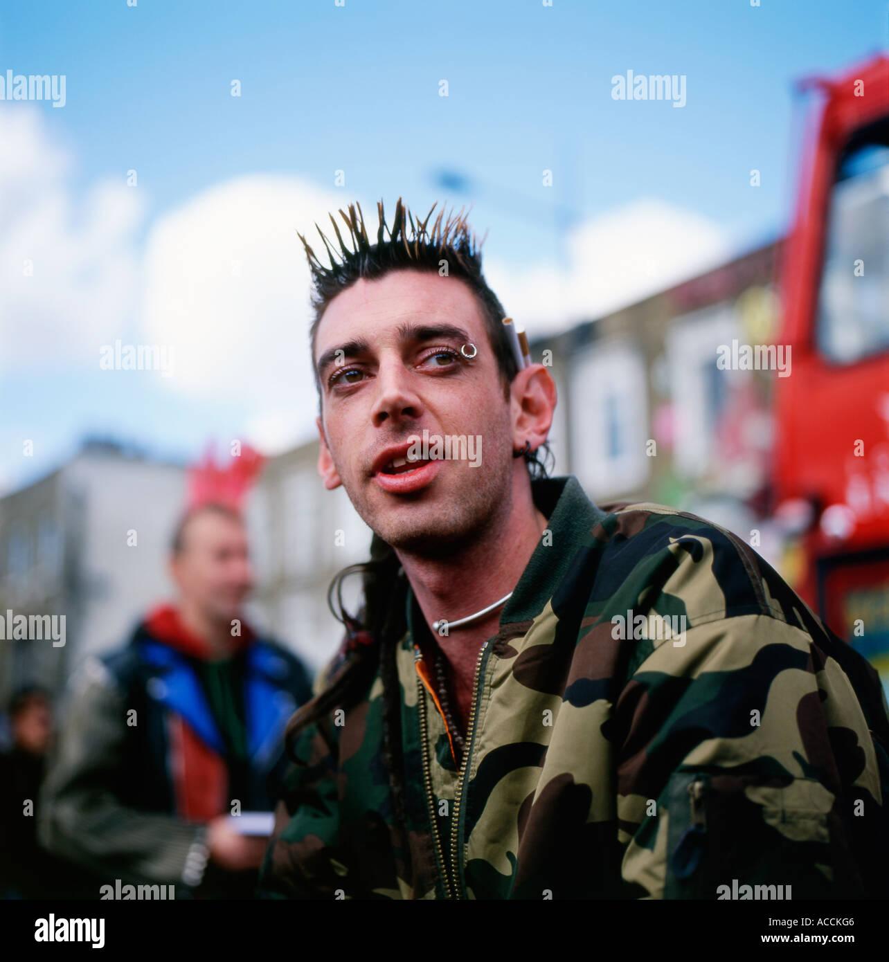 Punk men at Camden Lock London England UK - Stock Image