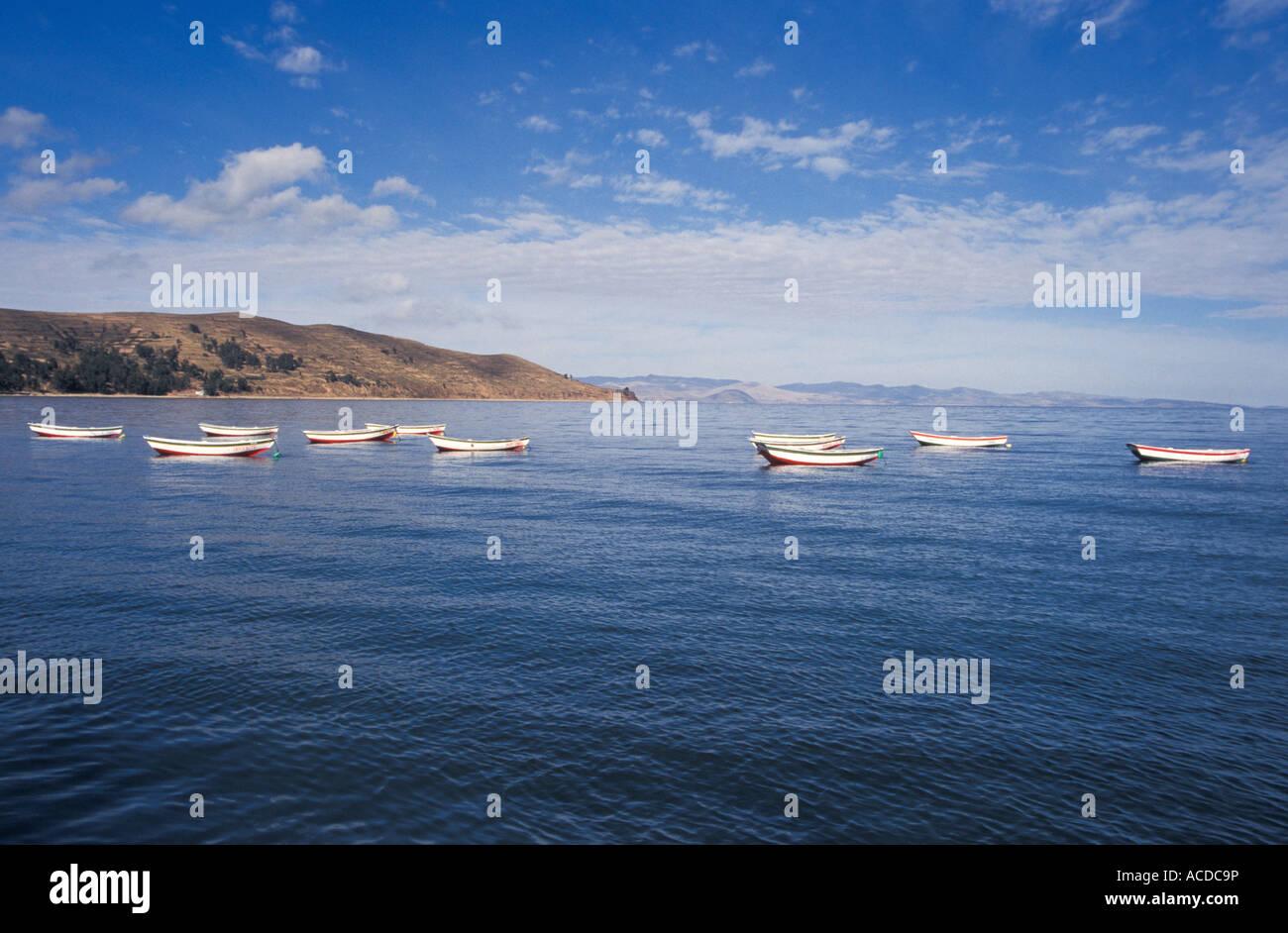 Titikaka Lake Copacabana Bolivia - Stock Image