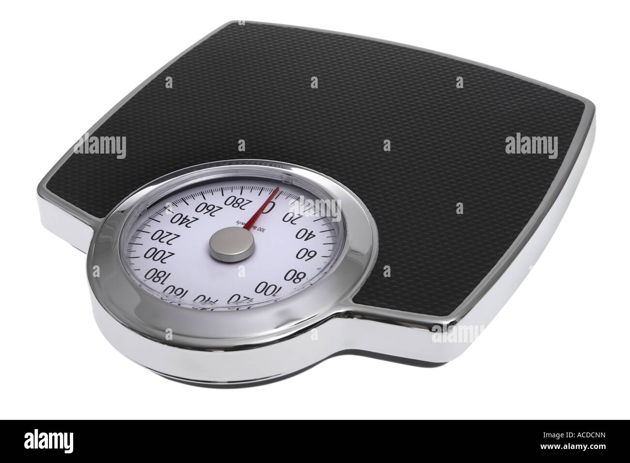 Scale cut out on white background - Stock Image