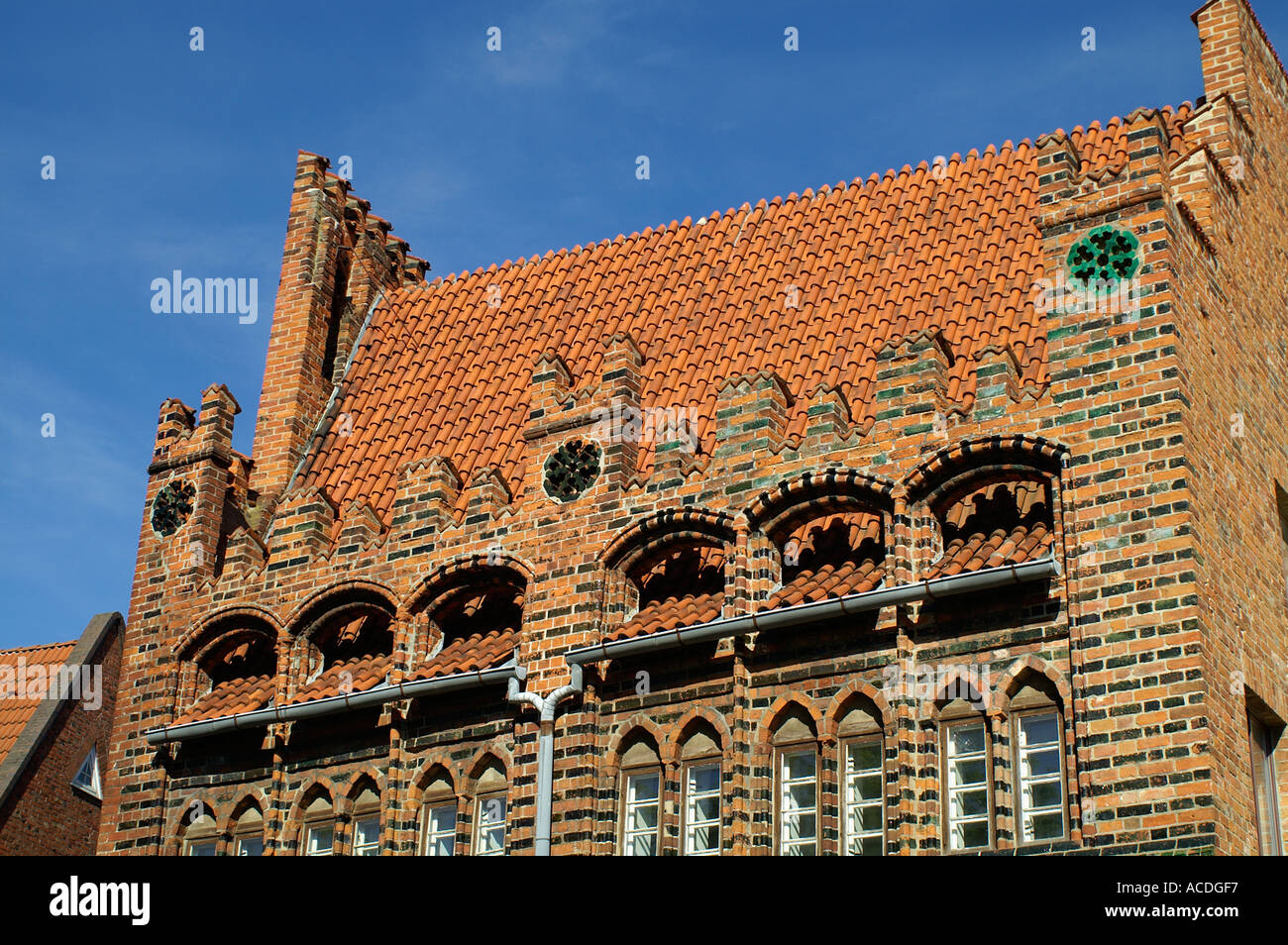 brick gothic in Wismar Germany - Stock Image