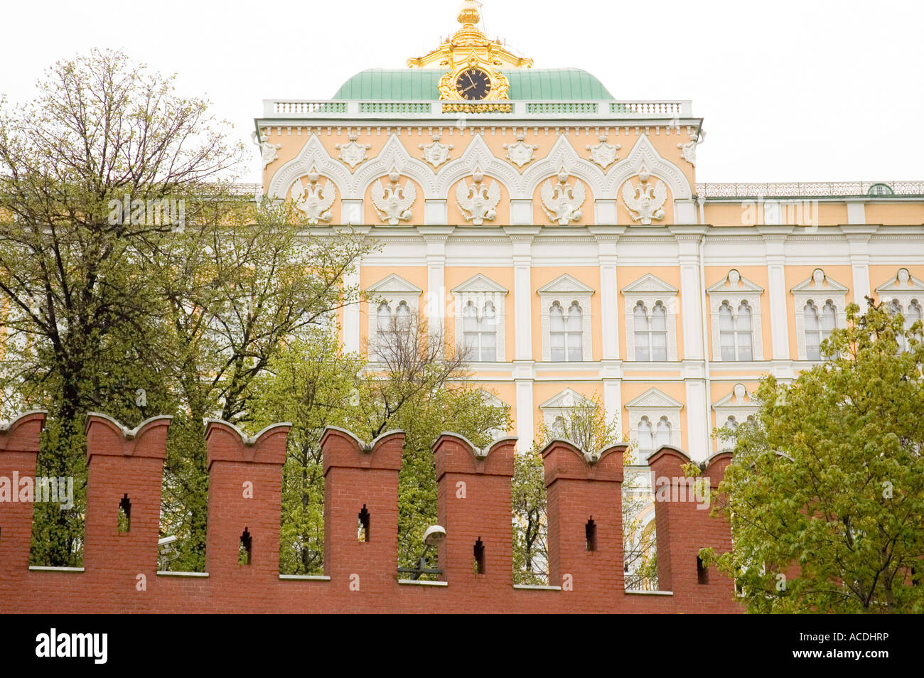 A view of the Kremlin in Moscow Russia - Stock Image