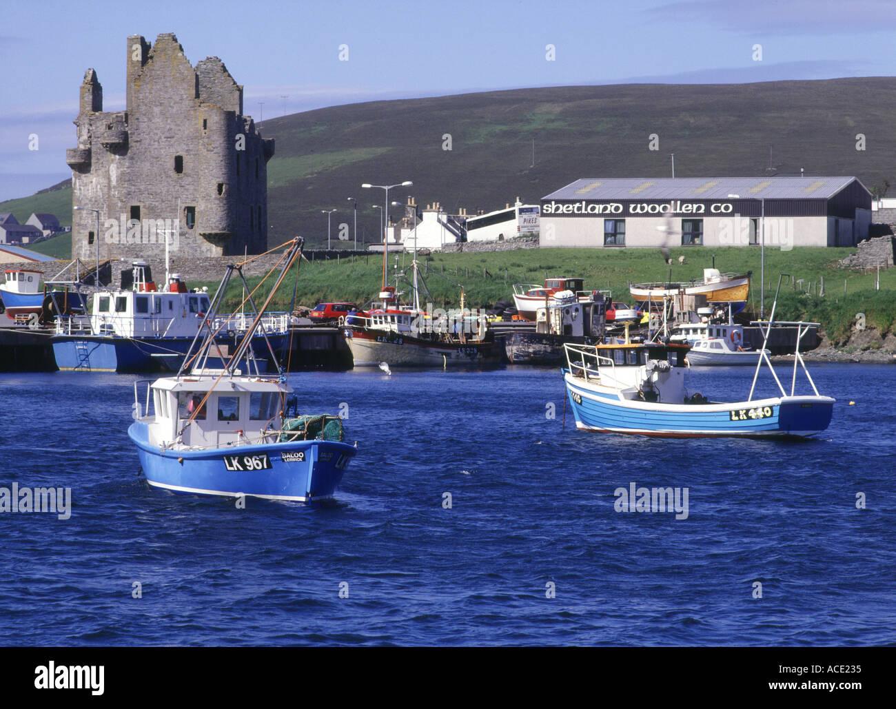Scalloway Harbour Shetland Islands Scotland Stock Photos