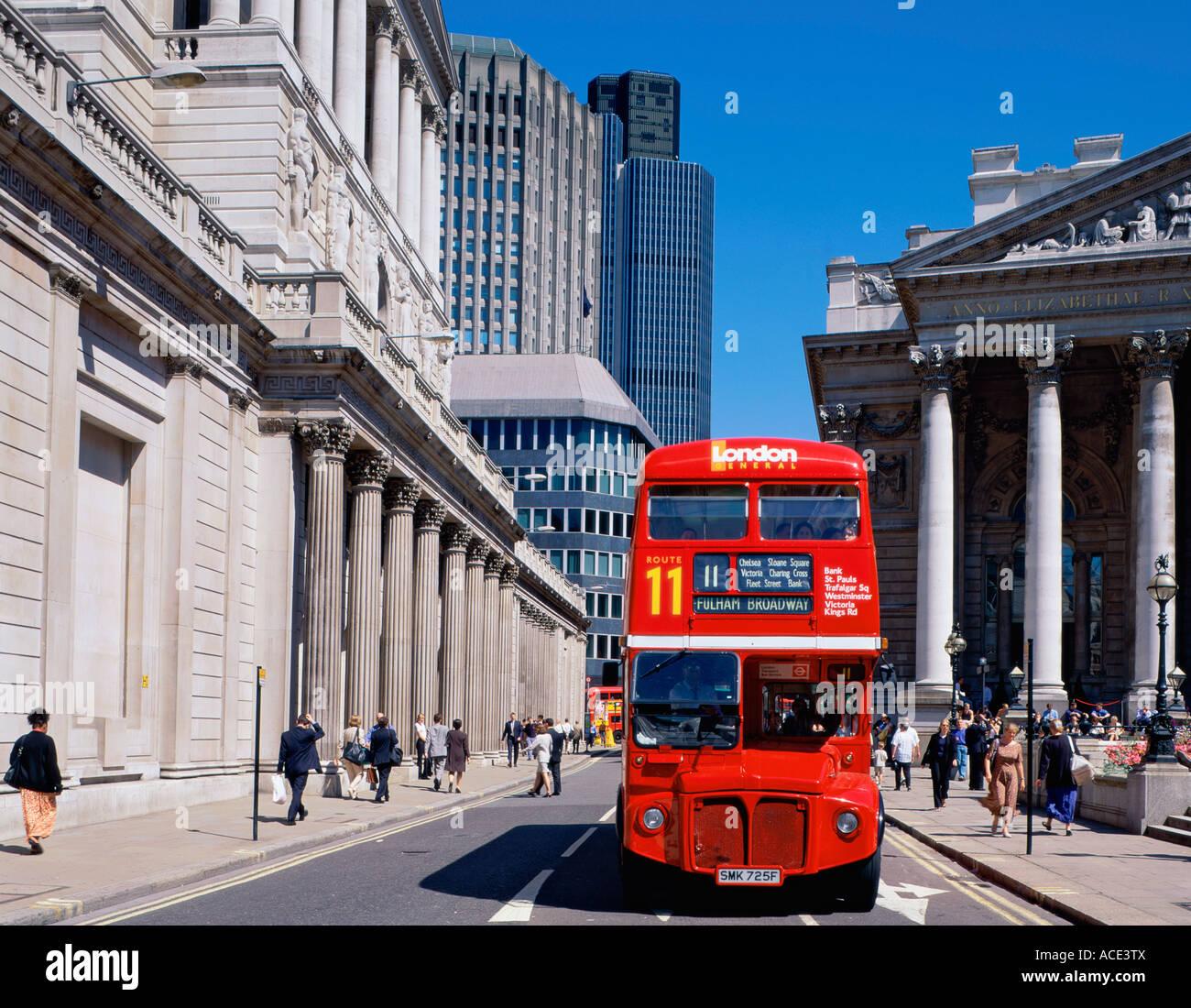 GB LONDON CITY THREADNEEDLE STREET BANK OF ENGLAND - Stock Image