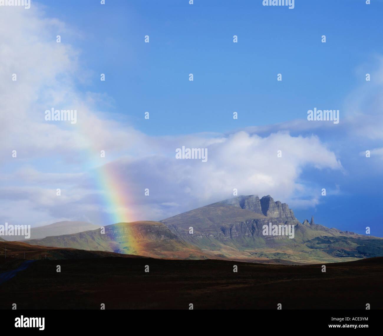 GB SCOTLAND HIGHLAND ISLE SKYE STORR - Stock Image
