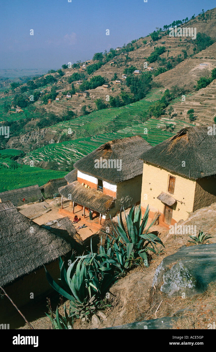 hamlet of dhulikhel kathmandu valley nepal - Stock Image