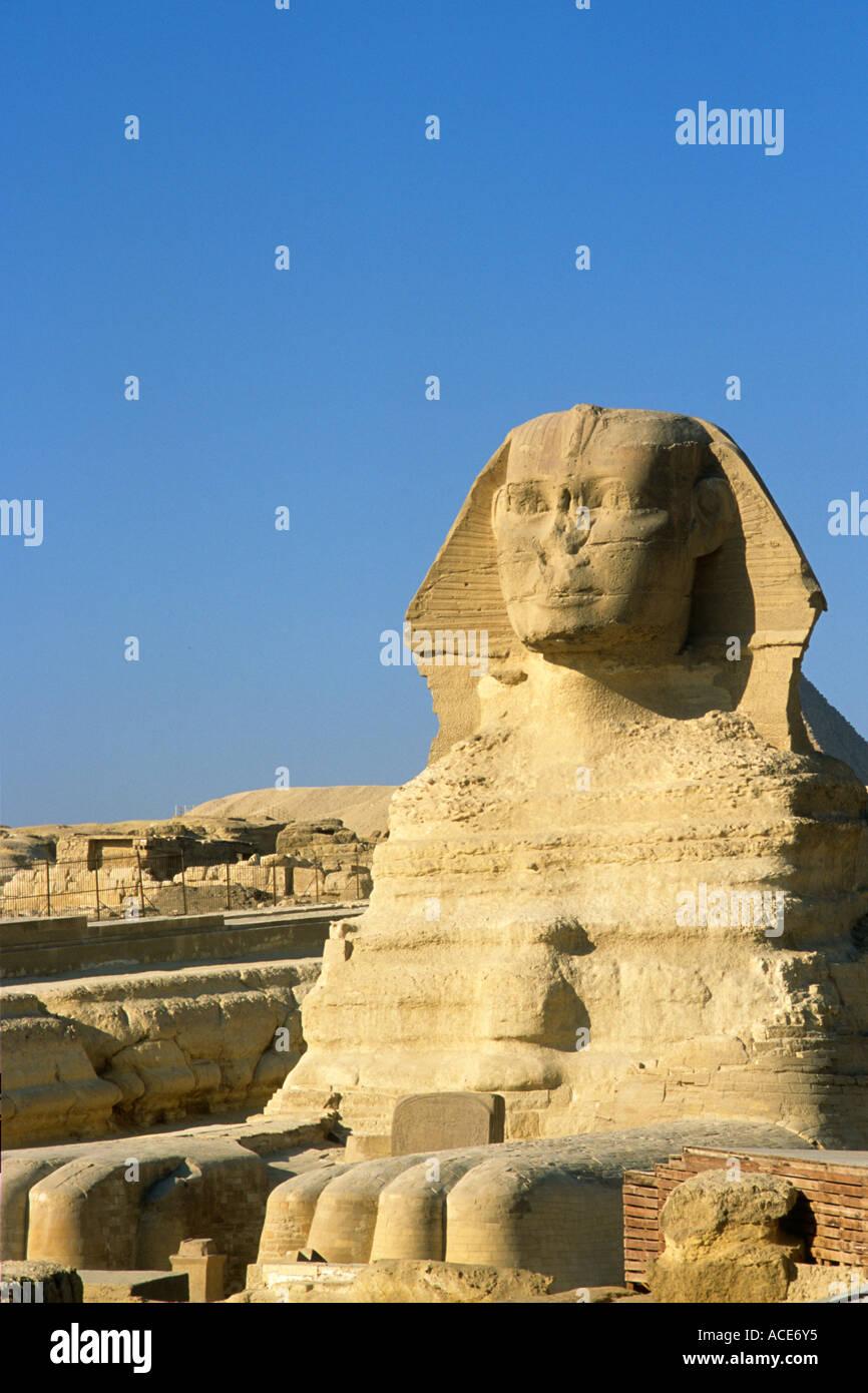 Egypt Cairo Giza Sphinx - Stock Image
