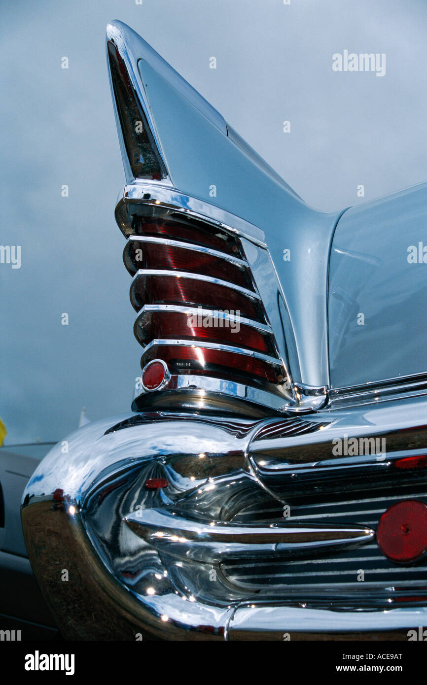 Detail on a vintage car close-up. - Stock Image