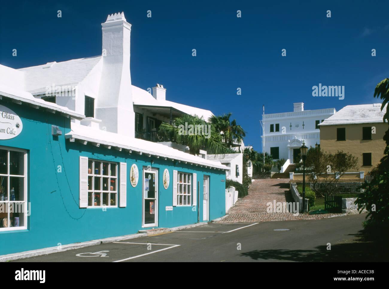 Bermuda St George King street - Stock Image