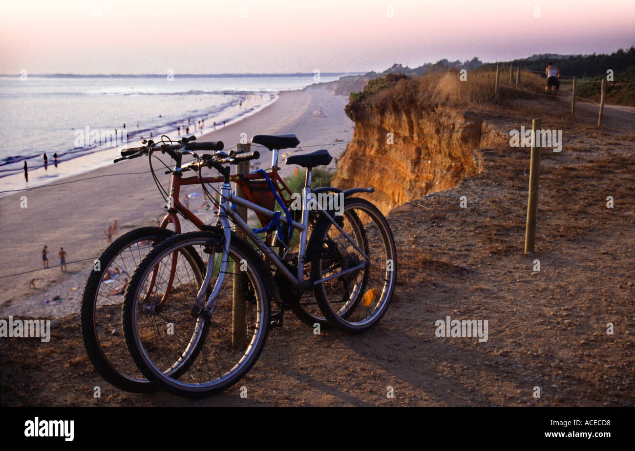 Bikes at Sunset during the heatwave of 2003 - Stock Image