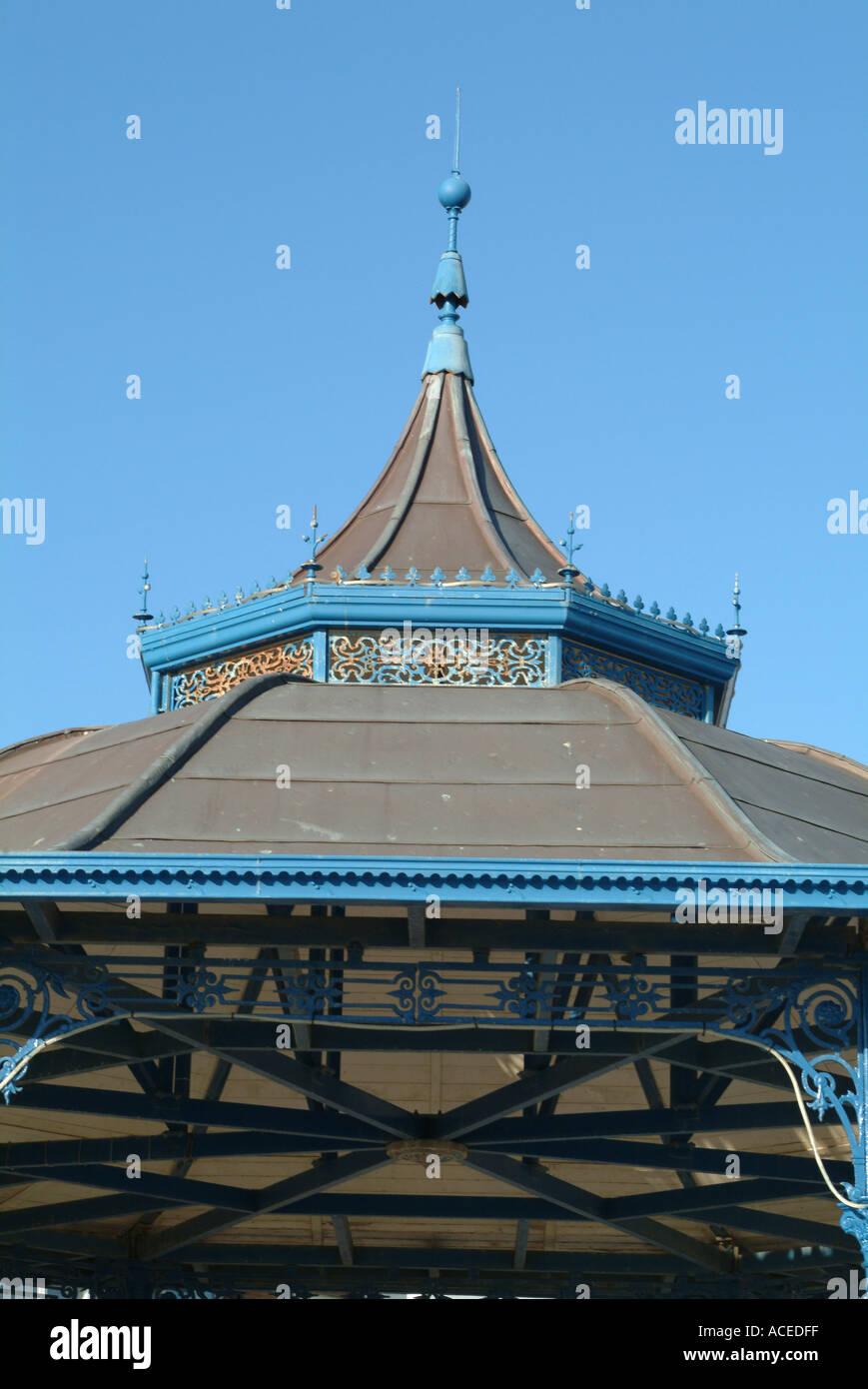 Victorian Regency Bandstand Roof on Promenade at Bognor Regis West Sussex England United Kingdom UK Stock Photo