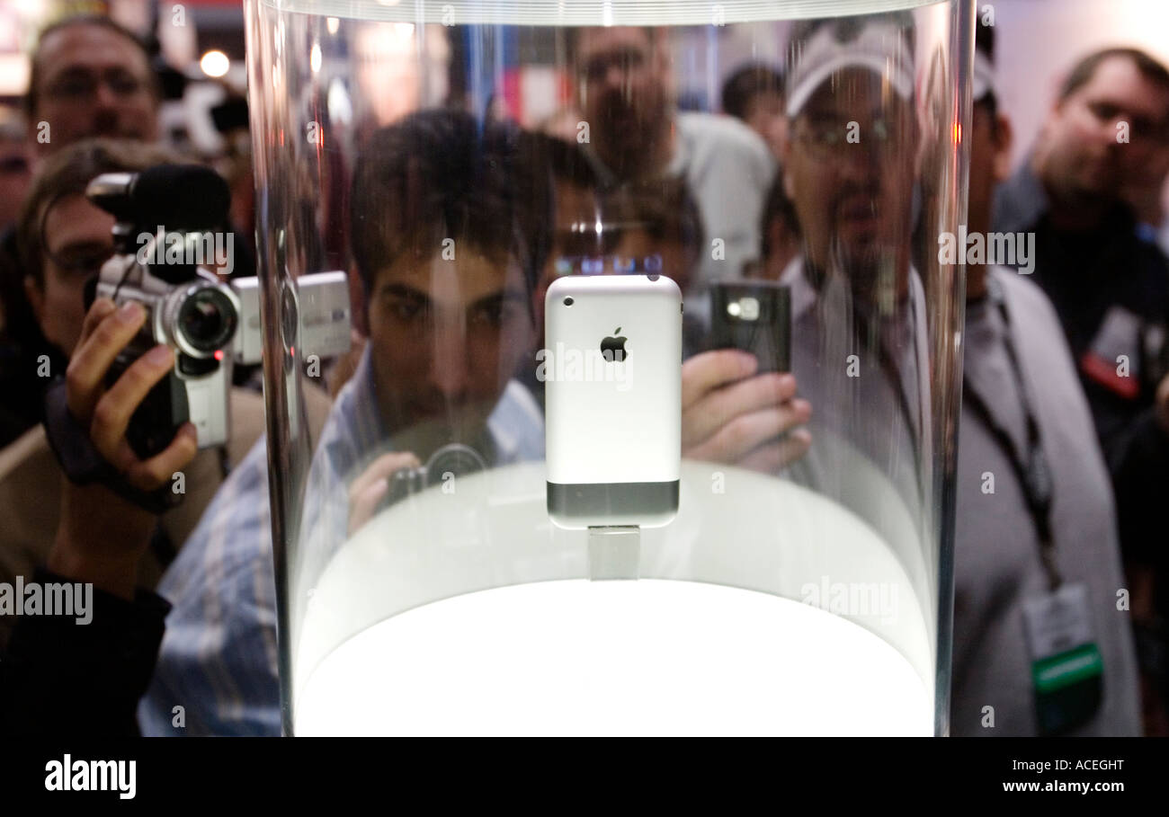 Photographers photograph the newly announced Apple iPhone - Stock Image
