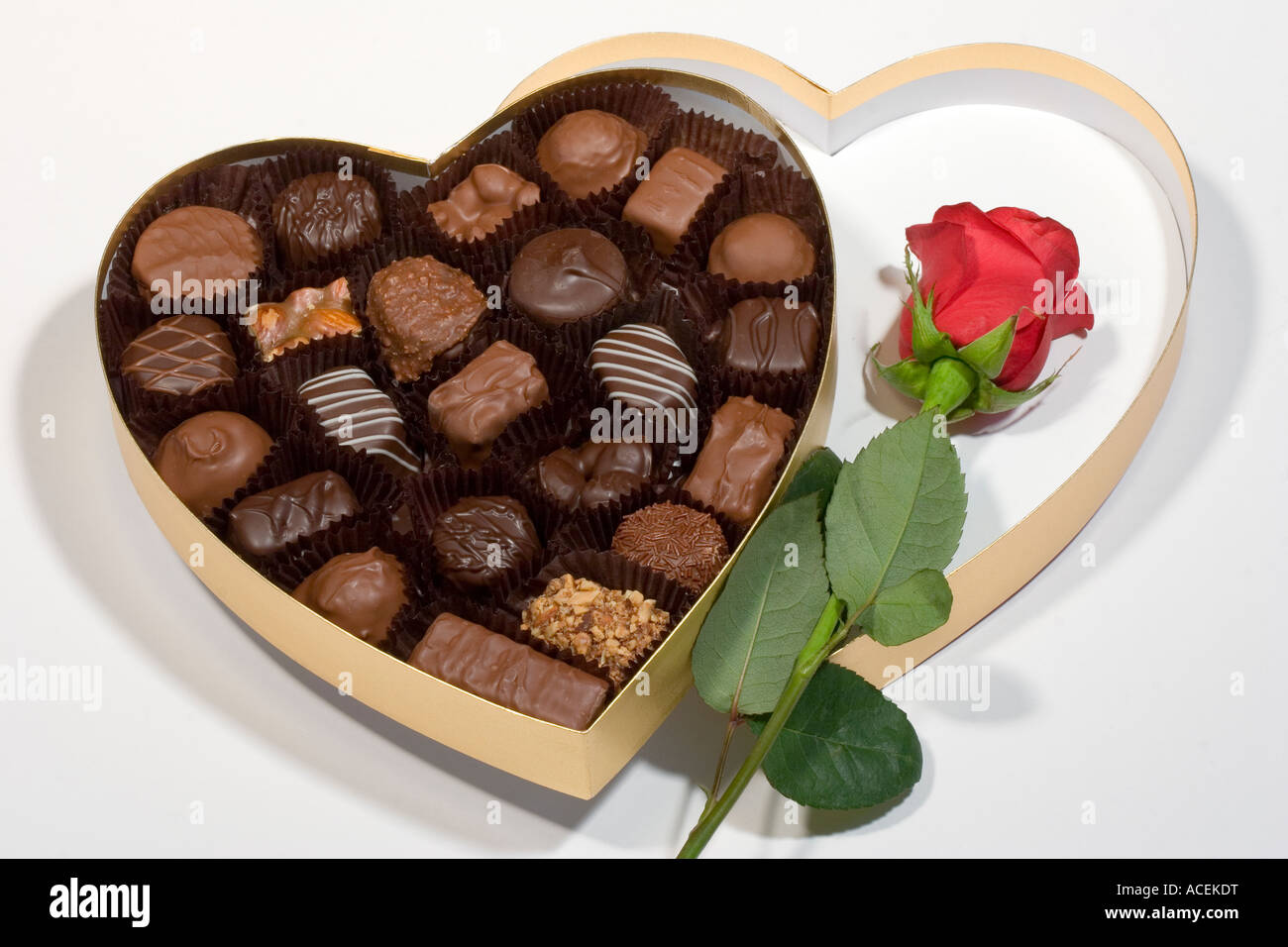 Red Rose Box Chocolates Stock Photos Red Rose Box Chocolates Stock