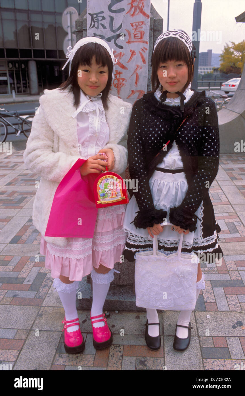 Two girls dressed up in Lolita style fashion for the Sunday ...