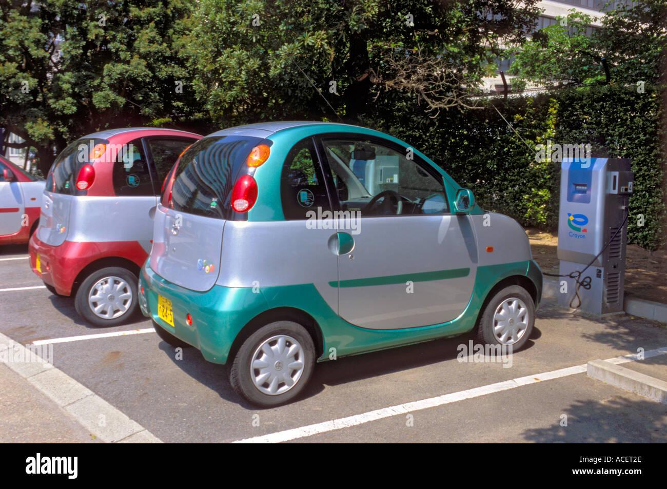 Toyota Ecom Experimental Prototype Electric Mini Car Charging Its
