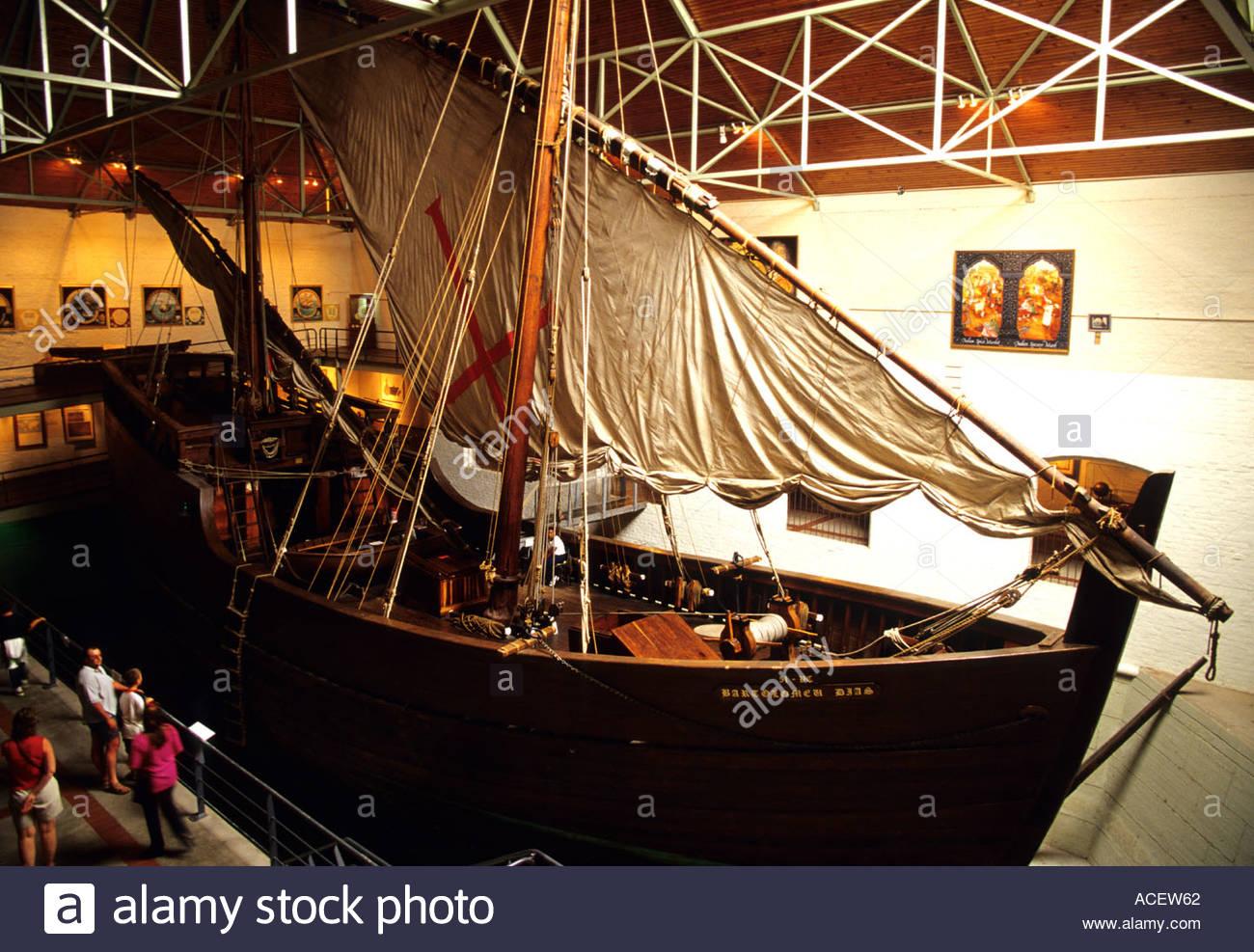 Mossel Bay South Africa Portugese Caravel replica in Bartolomeu Dias Museum - Stock Image