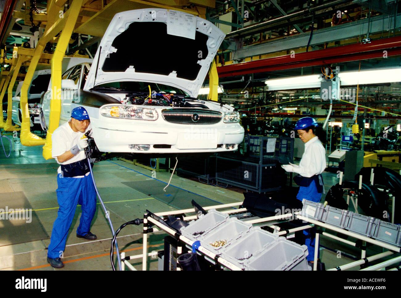 shanghai china shanghai gm buick assembly line stock photo: 4289013
