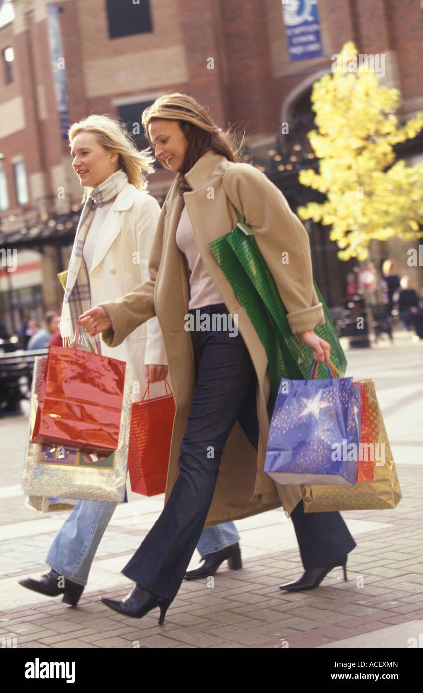 two women on a shopping expedition - Stock Image