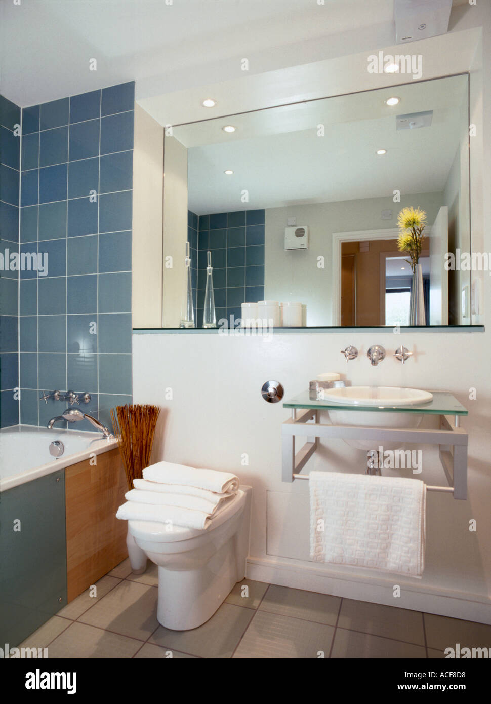 London show flat showing interior of designer bathroom England Stock ...