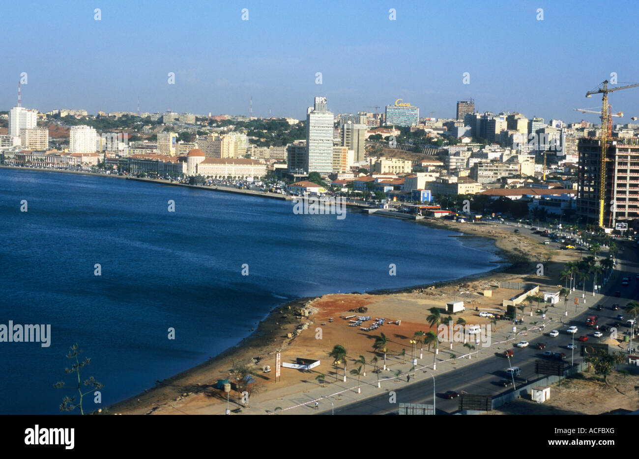 Scenic view of Luanda Bay Luanda; Angola - Stock Image