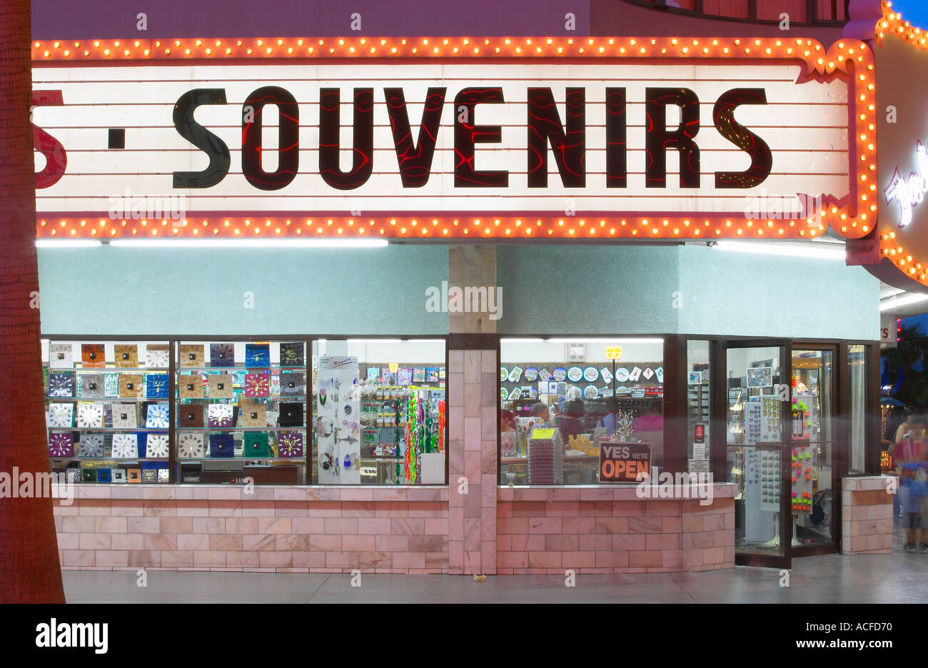 Souvenir Shop in Las Vegas NV Stock Photo