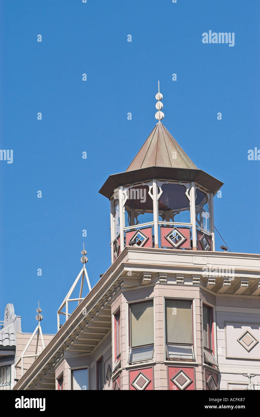 Detail of Victorian House San Francisco California United States - Stock Image