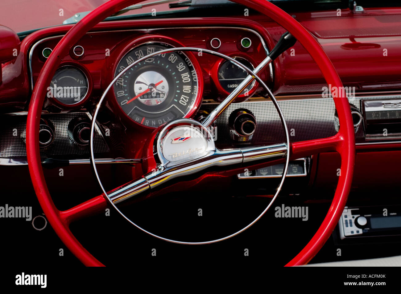 The interior in a convertible - Stock Image