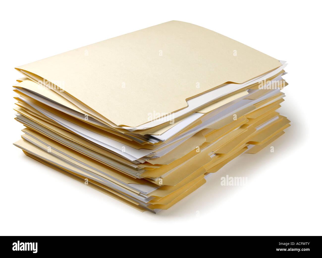 Folders Files - Stock Image