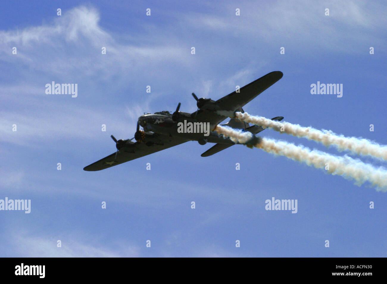 B17G Flying Fortress Sally B Waddington Air Show 2005 Stock Photo