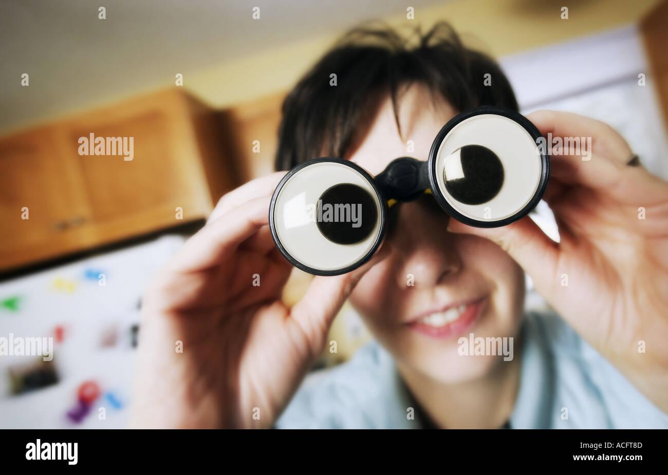Goofy binoculars - Stock Image