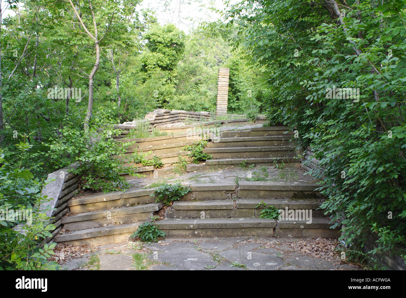 The stairs to the top of  'Haman Bair' - Stock Image