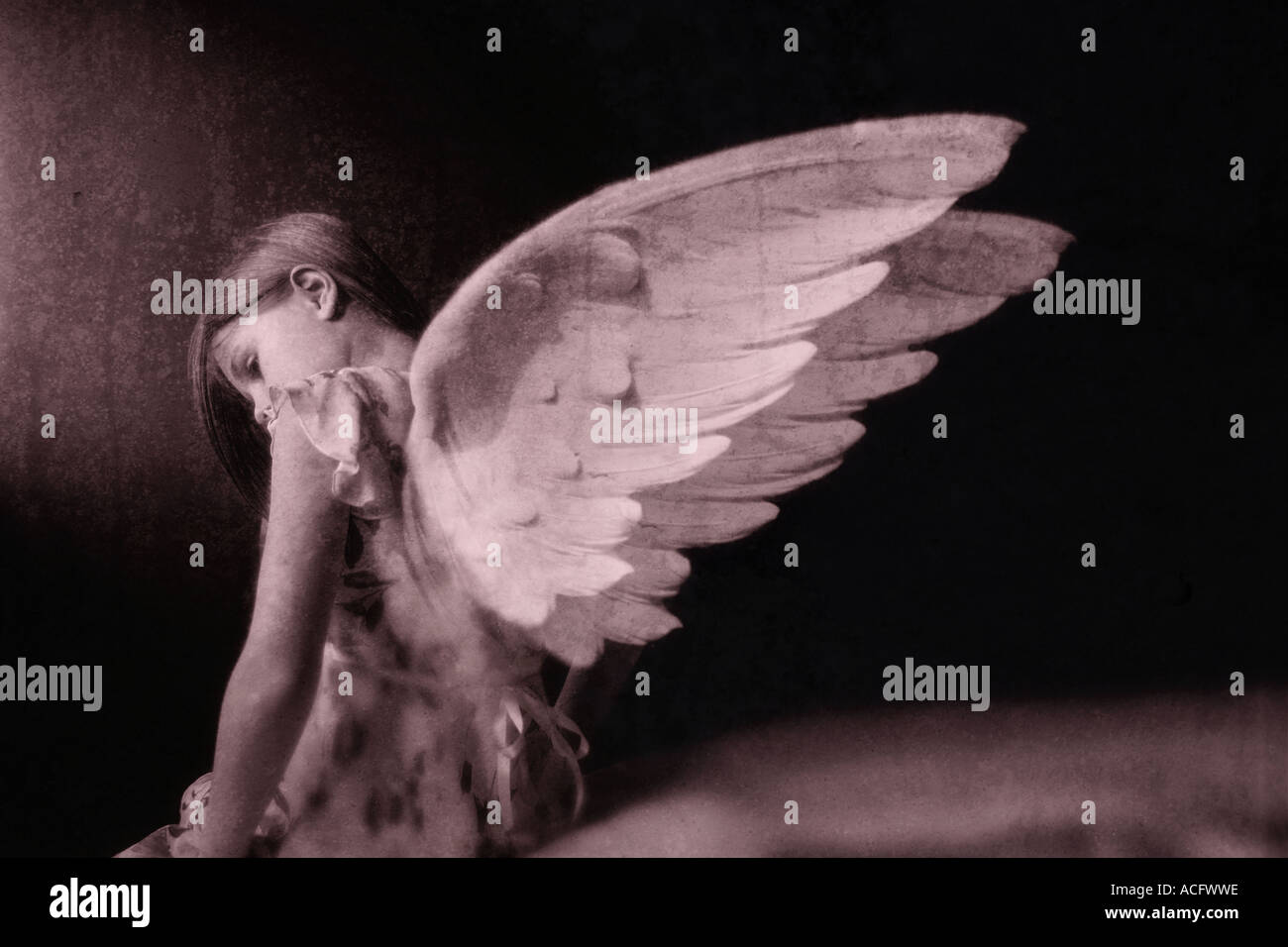 Photo of an angel - Stock Image