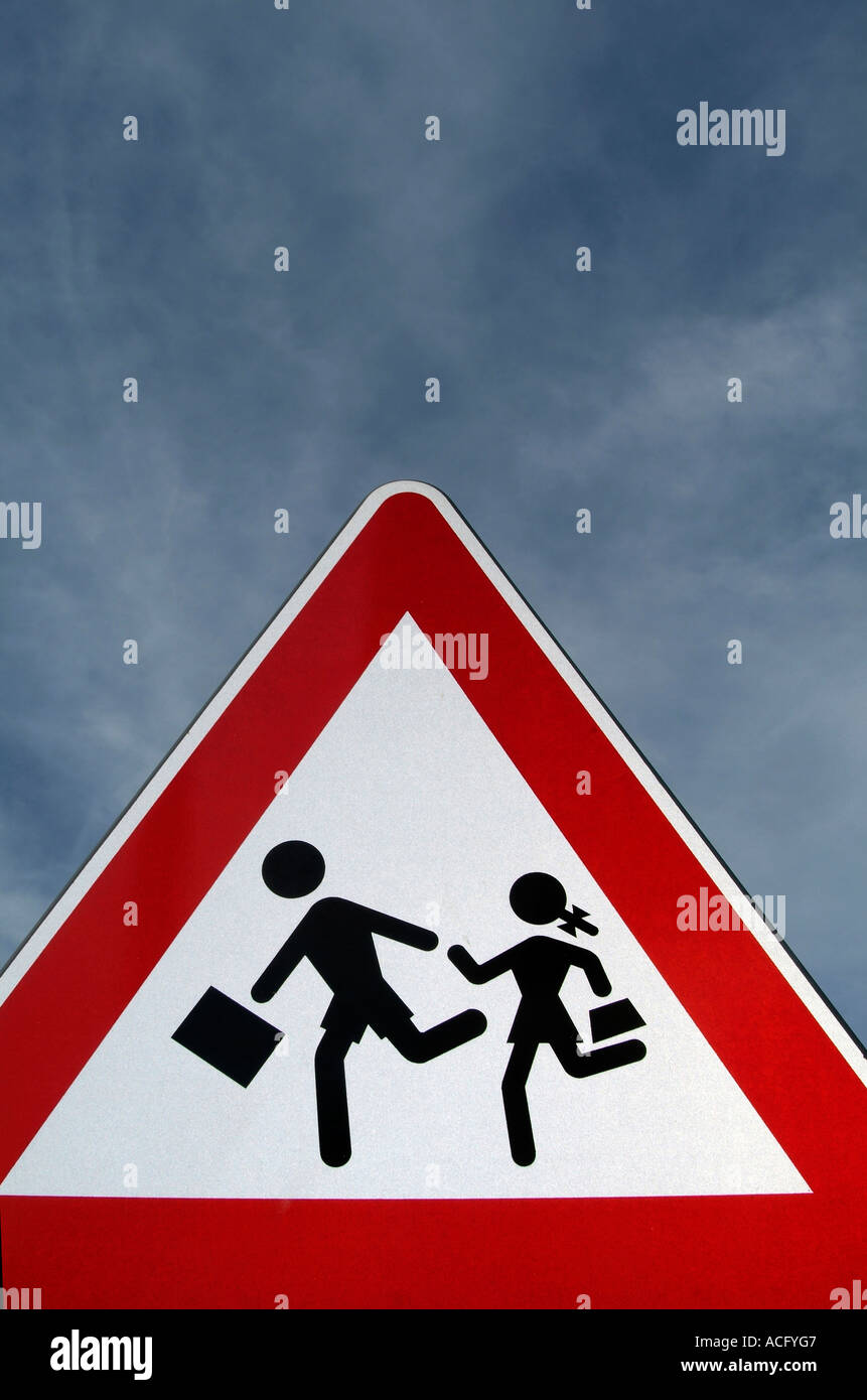 late, to, school, school, run, running, road, sign, danger, warning ...