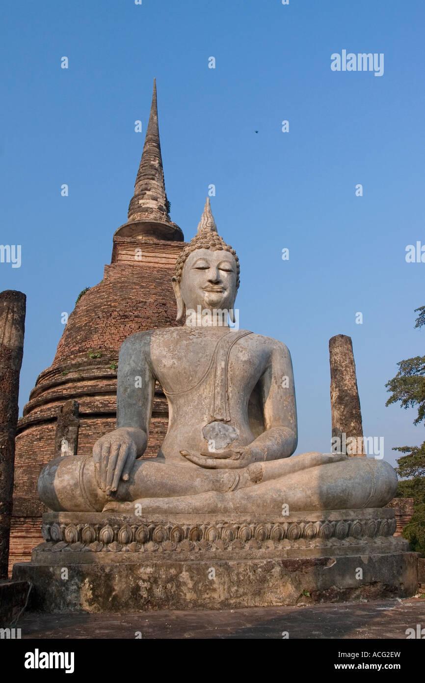 Wat Sra Si Wat Sa Si Sukhothai Historical Park Sukhothai Thailand - Stock Image