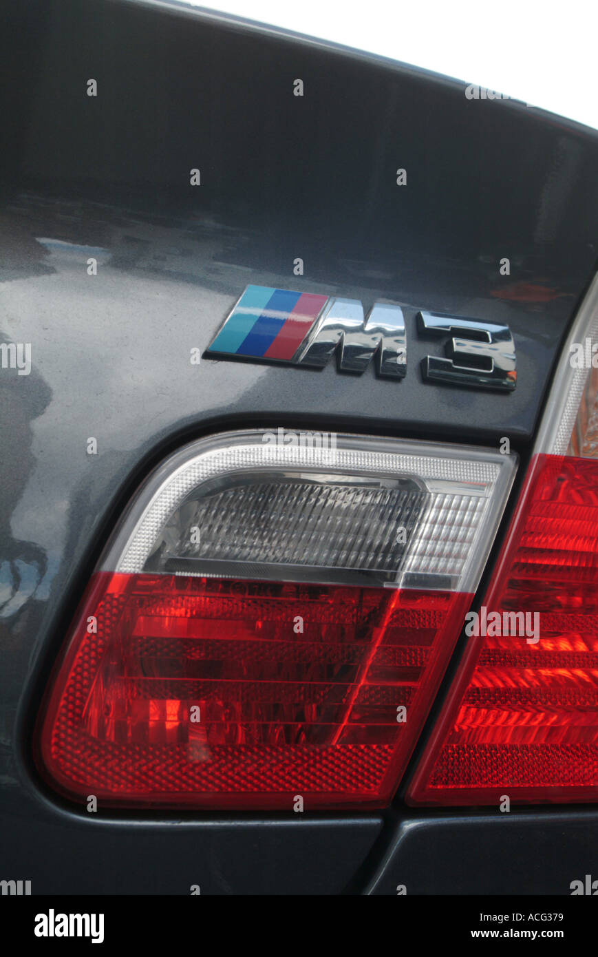 BMW M3 Rear Quarterlight   Stock Image