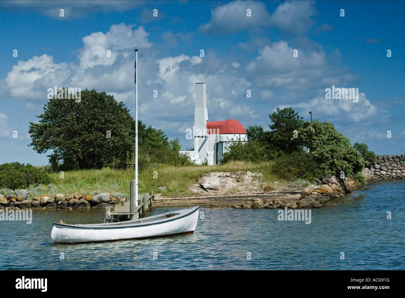 Old lime kiln at a small island in Marstal harbour Ærø Funen Denmark - Stock Image