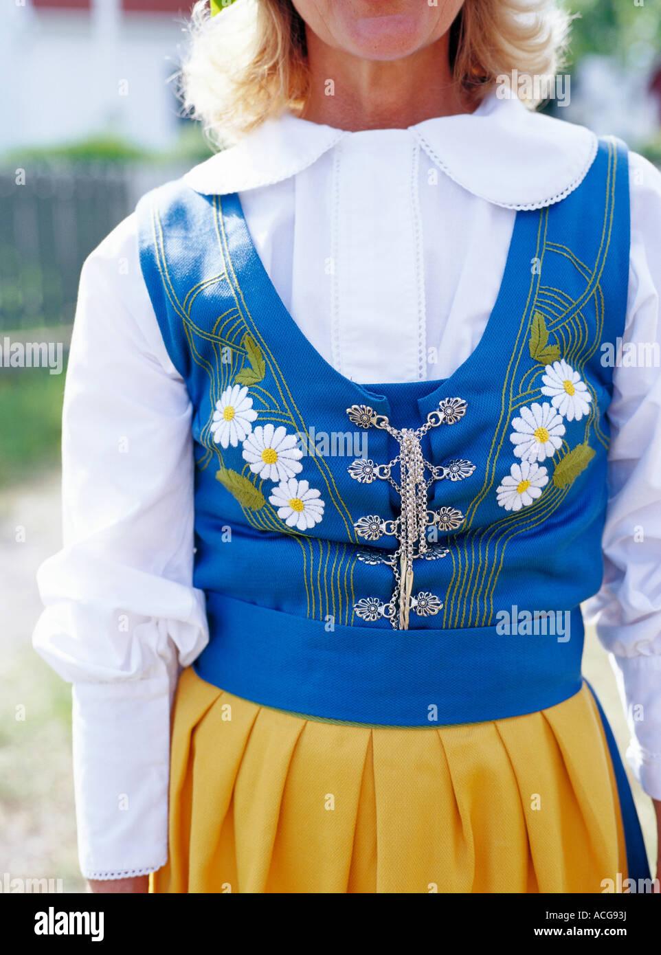 A Traditional Swedish Dress Stock Photo 13149173 Alamy